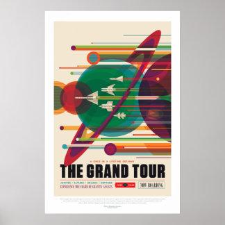 Poster Affiche de visite grande de système solaire