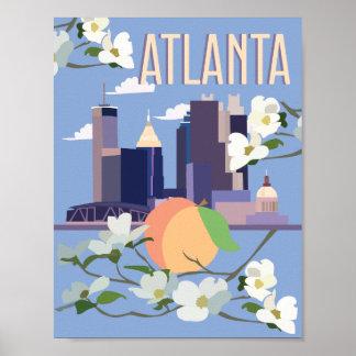 Poster Affiche de voyage d'Atlanta