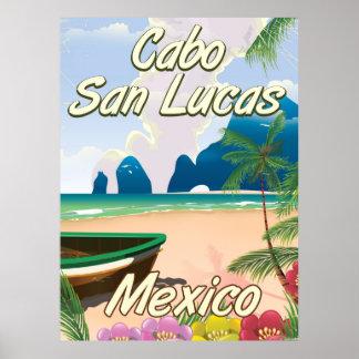 Poster Affiche de voyage de Cabo San Lucas Mexique
