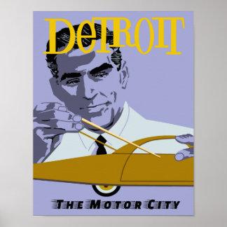 Poster Affiche de voyage de Detroit