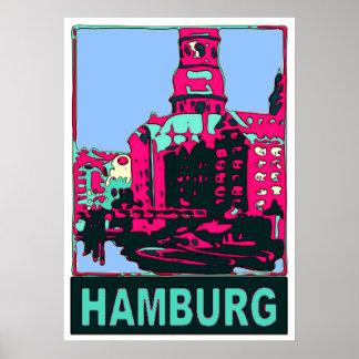 Poster Affiche de voyage de Hambourg