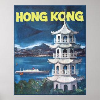 Poster Affiche de voyage de Hong Kong