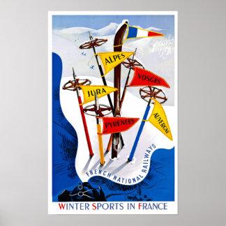 Poster Affiche de voyage de la France
