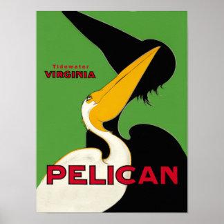 Poster Affiche de voyage de la Virginie d'eau de marée