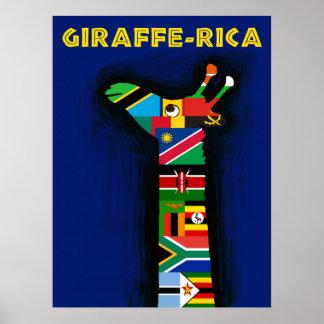 Poster Affiche de voyage de l'Afrique