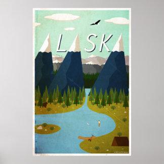Poster Affiche de voyage de l'Alaska