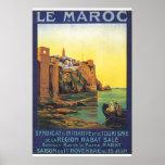 Poster Affiche de voyage de Le Maroc Vintage