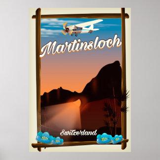Poster Affiche de voyage de Martinsloch Suisse
