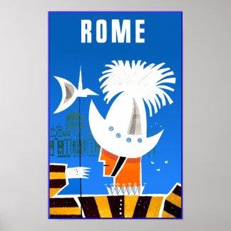Poster Affiche de voyage de Rome, Italie