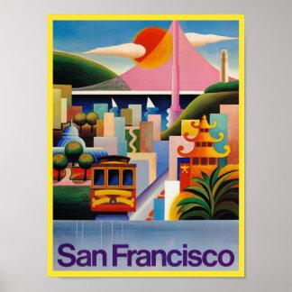 Poster Affiche de voyage de San Francisco