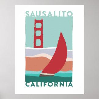 Poster Affiche de voyage de Sausalito