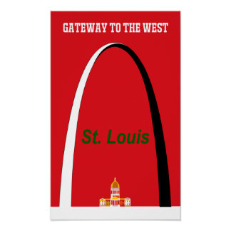 Poster Affiche de voyage de St Louis, Missouri