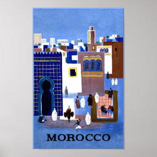 Poster Affiche de voyage du Maroc