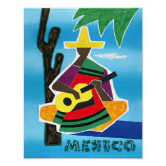 Poster Affiche de voyage du Mexique