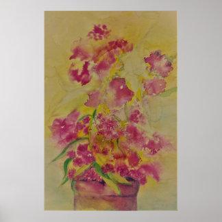 Poster affiche de zeke de fleur d'aquarelle