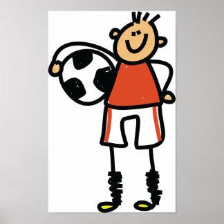 Poster Affiche d'enfant du football
