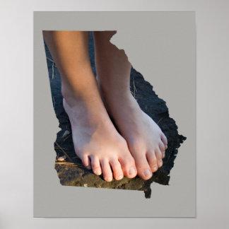 Poster Affiche d'ensemble d'état des pieds GA du soleil
