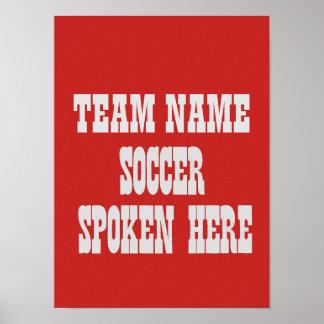 Poster Affiche d'équipe de football