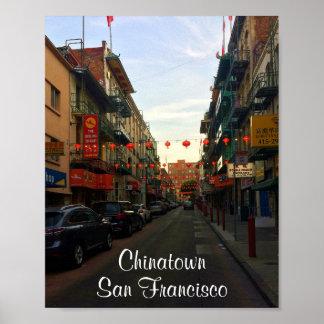 Poster Affiche des lanternes #2-2 de San Francisco