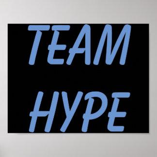 Poster Affiche d'exagération d'équipe