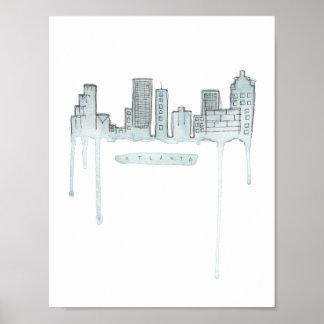 Poster Affiche d'horizon d'Atlanta