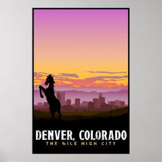 Poster Affiche d'horizon de Denver