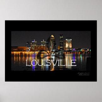 Poster Affiche d'horizon de Louisville avec Fleur de Lis