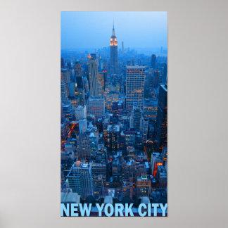 Poster Affiche d'horizon de New York City (état d'empire)