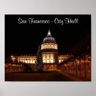 Poster Affiche d'hôtel de ville de San Francisco #2-2