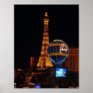 Poster Affiche d'hôtel et de casino #2 de Paris Las Vegas