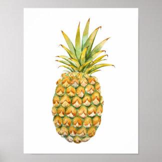 Poster Affiche d'illustration d'ananas