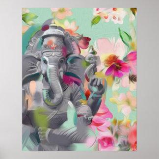 Poster Affiche d'impression d'art de Bouddha Ganesha
