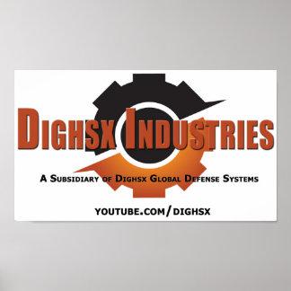 Poster Affiche d'industries de Dighsx