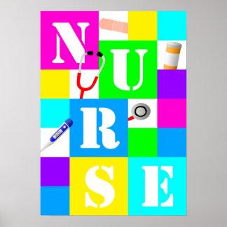 Poster Affiche d'infirmière