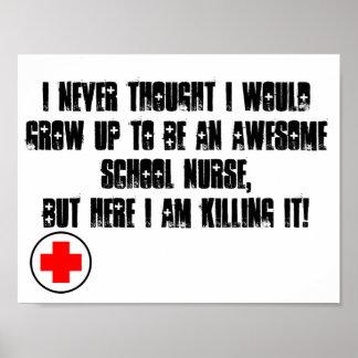 Poster Affiche d'infirmière d'école