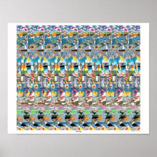 """Poster Affiche d'oeil magique 16"""" de """"navigation"""" du ® 3D"""