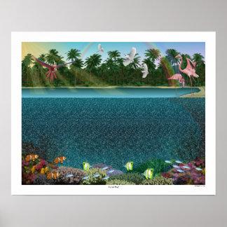 """Poster Affiche d'oeil magique 20"""" """"de récif coralien"""" du"""