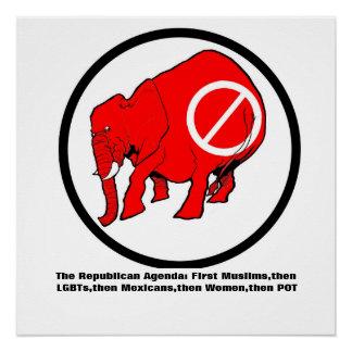 Poster Affiche d'ordre du jour de 20 x 20 anti-Atouts