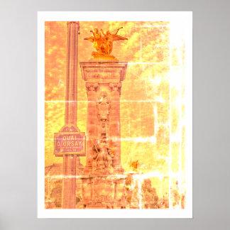 Poster Affiche d'Orsay de Quai Pont Alexandre III Paris