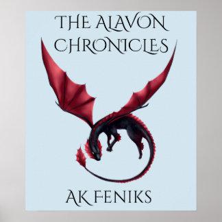 Poster Affiche d'Ouroboros de dragon d'Alavon