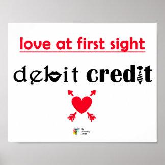 Poster Affiche drôle de comptabilité, amour à la première