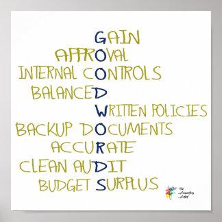 Poster Affiche drôle de comptabilité de bons mots