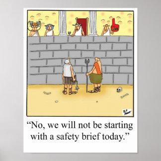 Poster Affiche drôle de dossier de sécurité de gladiateur