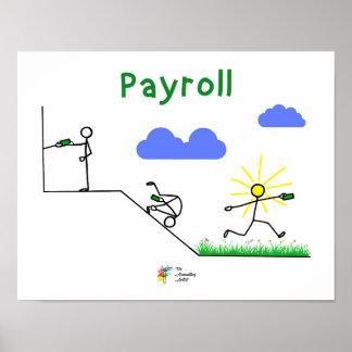 Poster Affiche drôle de feuille de paie - art de mur de