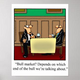 Poster Affiche drôle de marché boursier