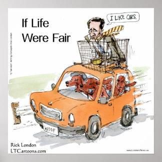 Poster Affiche drôle de Rick Londres des poseurs irlandai
