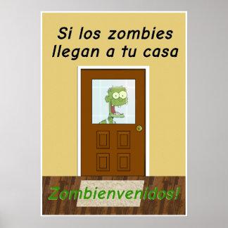 Poster Affiche drôle pour une salle de classe espagnole