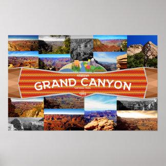 Poster Affiche du canyon grand