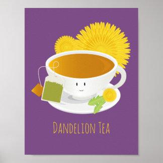 Poster Affiche du caractère | de tasse de thé de