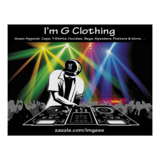 Poster Affiche du DJ de moi suis habillement de G